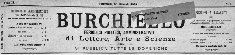 Articolo di giornale - testata del Burchiello
