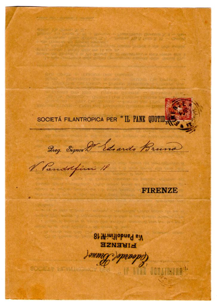 Richiesta obolo 1898
