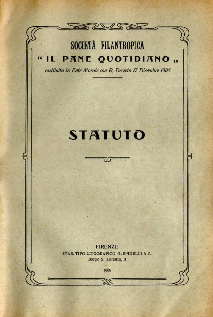 Lo Statuto originale del 1906