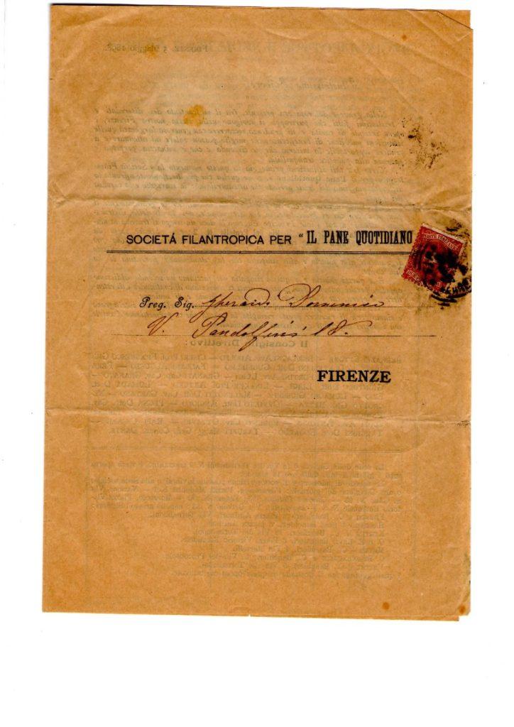 Scheda di adesione 5 maggio 1898