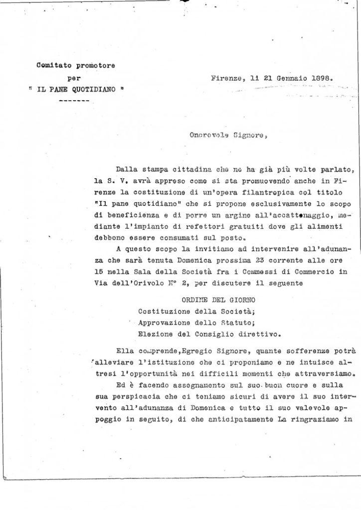 Convoc. Comitato Promotore 21 Gennaio 1898